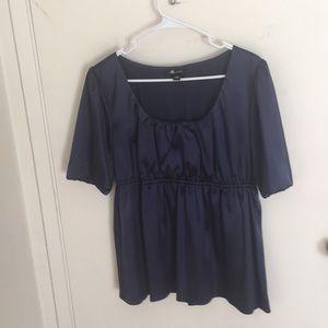 Royal blue women's blouse
